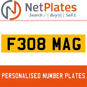 F308 MAGPERSONALISED PRIVATE CHERISHED DVLA NUMBER PLATE For Sale