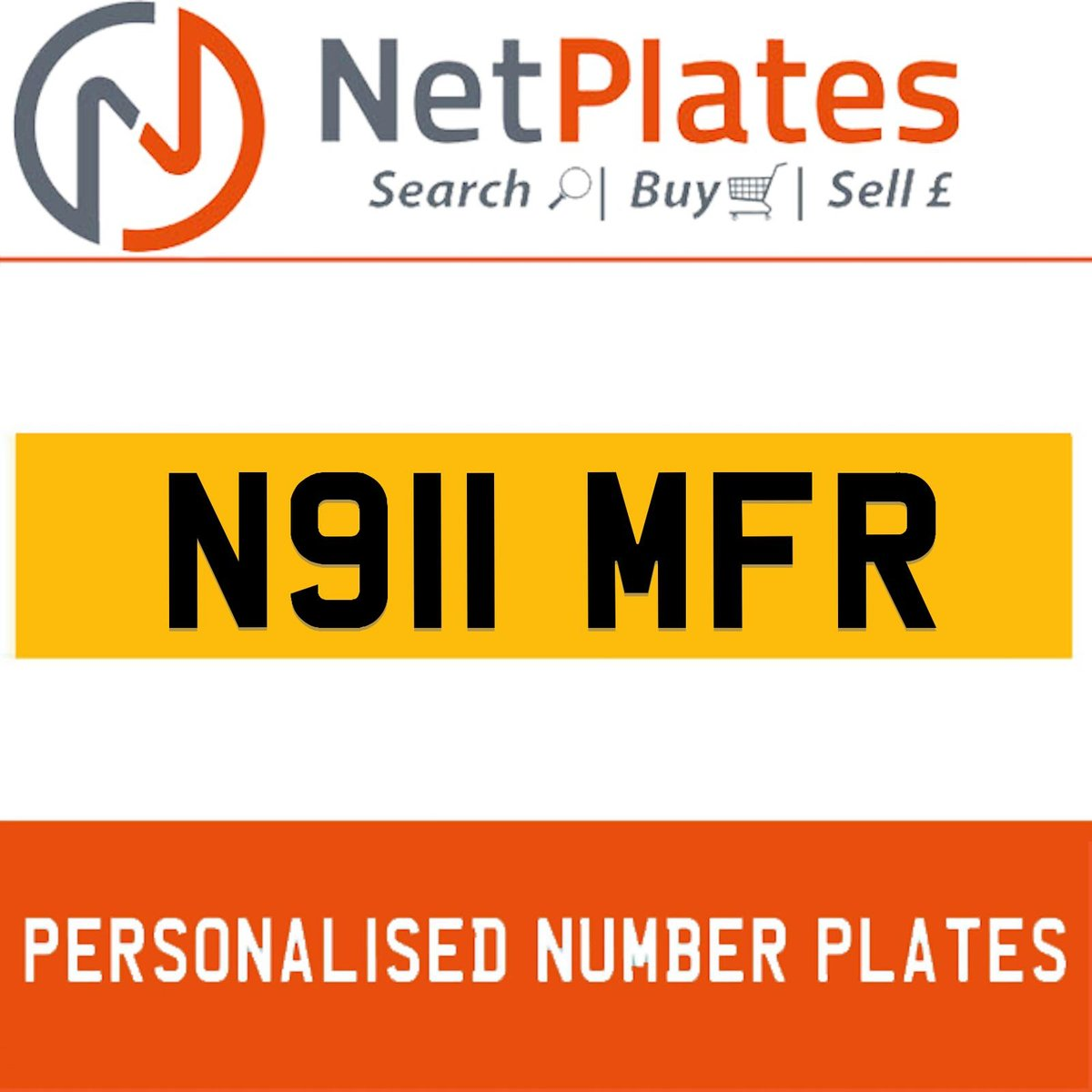 N911 MFR  PERSONALISED PRIVATE CHERISHED DVLA NUMBER PLATE For Sale (picture 1 of 5)