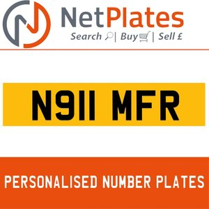 N911 MFR  PERSONALISED PRIVATE CHERISHED DVLA NUMBER PLATE For Sale