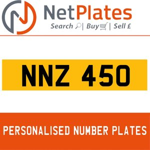 NNZ 450 PERSONALISED PRIVATE CHERISHED DVLA NUMBER PLATE