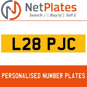 L28 PJC PERSONALISED PRIVATE CHERISHED DVLA NUMBER PLATE