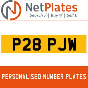 P28 PJW PERSONALISED PRIVATE CHERISHED DVLA NUMBER PLATE For Sale