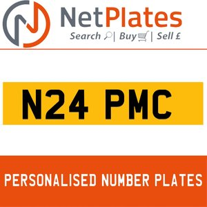 N24 PMC PERSONALISED PRIVATE CHERISHED DVLA NUMBER PLATE For Sale