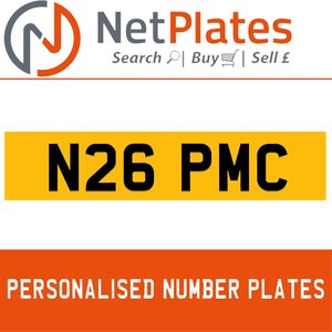 N26 PMC PERSONALISED PRIVATE CHERISHED DVLA NUMBER PLATE For Sale