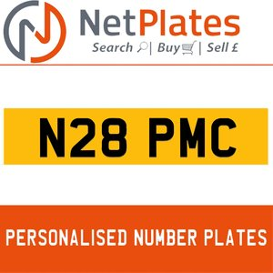 N28 PMC PERSONALISED PRIVATE CHERISHED DVLA NUMBER PLATE For Sale
