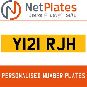 Y121 RJH PERSONALISED PRIVATE CHERISHED DVLA NUMBER PLATE
