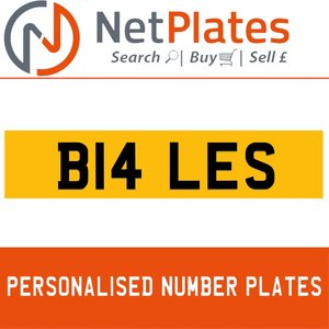 B14 LES PERSONALISED PRIVATE CHERISHED DVLA NUMBER PLATE For Sale