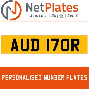 AUD 170R PERSONALISED PRIVATE CHERISHED DVLA NUMBER PLATE For Sale
