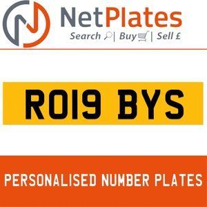 RO19 BYS PERSONALISED PRIVATE CHERISHED DVLA NUMBER PLATE For Sale
