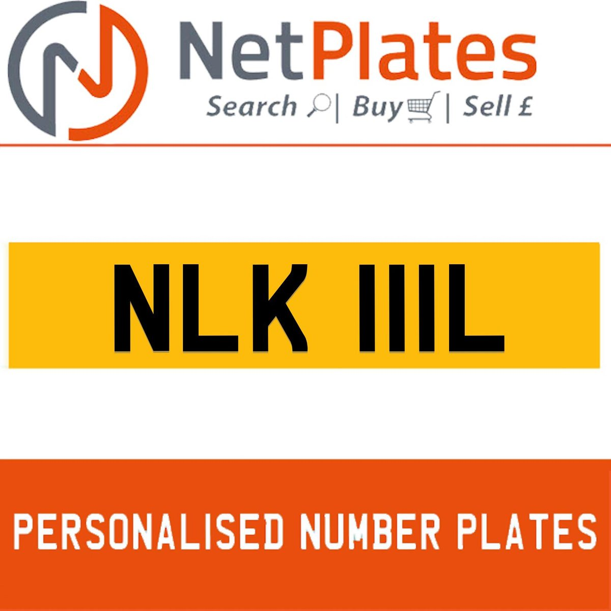 NLK 111L PERSONALISED PRIVATE CHERISHED DVLA NUMBER PLATE For Sale (picture 1 of 5)