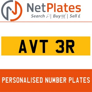 AVT 3R PERSONALISED PRIVATE CHERISHED DVLA NUMBER PLATE For Sale