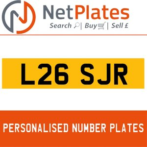 L26 SJR PERSONALISED PRIVATE CHERISHED DVLA NUMBER PLATE For Sale