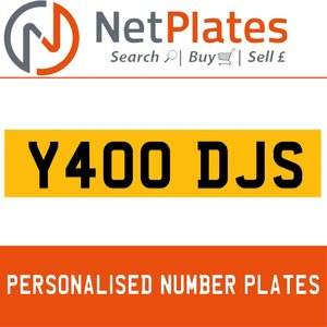 Y400 DJS PERSONALISED PRIVATE CHERISHED DVLA NUMBER PLATE For Sale