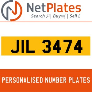 JIL 3474 PERSONALISED PRIVATE CHERISHED DVLA NUMBER PLATE