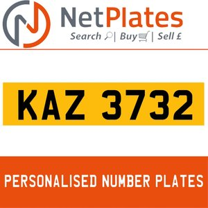 KAZ 3732 PERSONALISED PRIVATE CHERISHED DVLA NUMBER PLATE For Sale