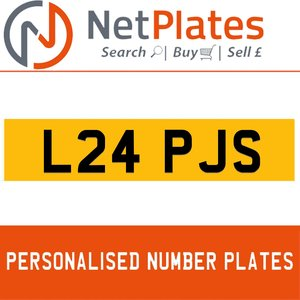 L24 PJS PERSONALISED PRIVATE CHERISHED DVLA NUMBER PLATE For Sale