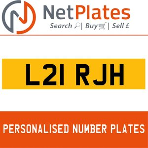 L21 RJH PERSONALISED PRIVATE CHERISHED DVLA NUMBER PLATE For Sale