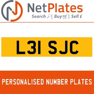 L31 SJC PERSONALISED PRIVATE CHERISHED DVLA NUMBER PLATE For Sale
