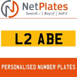 L2 ABE PERSONALISED PRIVATE CHERISHED DVLA NUMBER PLATE