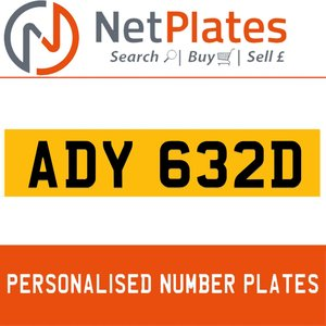 ADY 632D PERSONALISED PRIVATE CHERISHED DVLA NUMBER PLATE