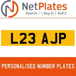 L23 AJP PERSONALISED PRIVATE CHERISHED DVLA NUMBER PLATE