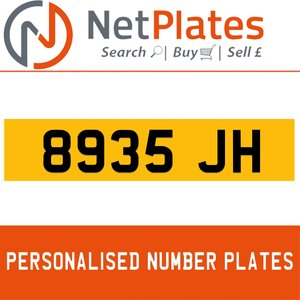 8935 JH PERSONALISED PRIVATE CHERISHED DVLA NUMBER PLATE