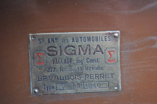 SIGMA TOURER  1918. MAKE AN OFFER. For Sale (picture 5 of 6)