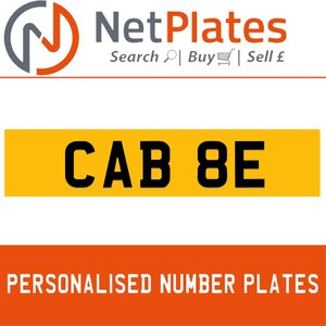 CAB 8E PERSONALISED PRIVATE CHERISHED DVLA NUMBER PLATE For Sale