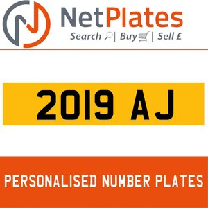 2019 AJ PERSONALISED PRIVATE CHERISHED DVLA NUMBER PLATE For Sale