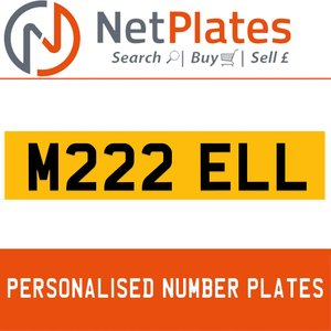 M222 ELL PERSONALISED PRIVATE CHERISHED DVLA NUMBER PLATE