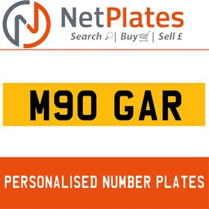 M90 GAR PERSONALISED PRIVATE CHERISHED DVLA NUMBER PLATE For Sale