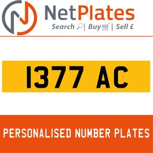 1377 JAC PERSONALISED PRIVATE CHERISHED DVLA NUMBER PLATE