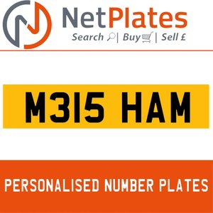 M315 HAM PERSONALISED PRIVATE CHERISHED DVLA NUMBER PLATE For Sale