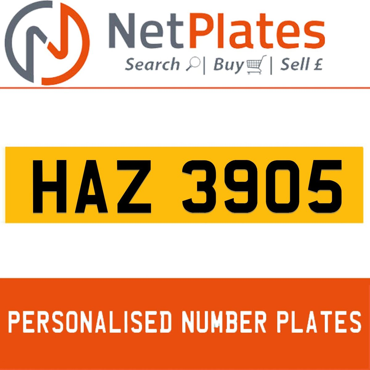 HAZ 3905 PERSONALISED PRIVATE CHERISHED DVLA NUMBER PLATE For Sale (picture 1 of 5)