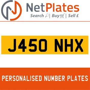 J450 HNX PERSONALISED PRIVATE CHERISHED DVLA NUMBER PLATE For Sale