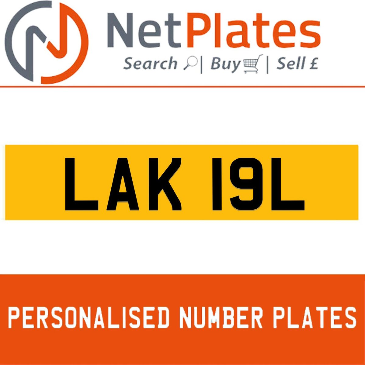 LAK 19L PERSONALISED PRIVATE CHERISHED DVLA NUMBER PLATE For Sale (picture 1 of 5)
