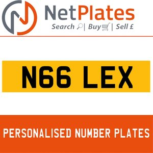 N66 LEX PERSONALISED PRIVATE CHERISHED DVLA NUMBER PLATE