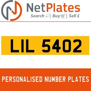 LIL 5402 PERSONALISED PRIVATE CHERISHED DVLA NUMBER PLATE