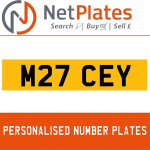 M27 CEY PERSONALISED PRIVATE CHERISHED DVLA NUMBER PLATE