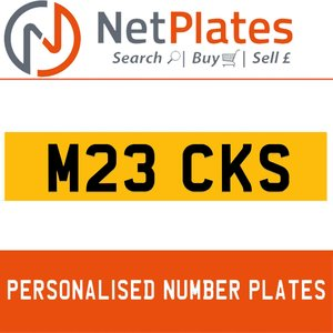 M23 CKS PERSONALISED PRIVATE CHERISHED DVLA NUMBER PLATE For Sale