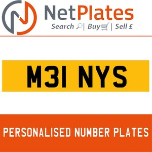 M31 NYS PERSONALISED PRIVATE CHERISHED DVLA NUMBER PLATE For Sale