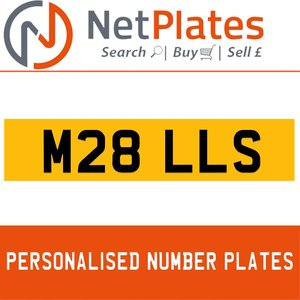 M28 LLS PERSONALISED PRIVATE CHERISHED DVLA NUMBER PLATE For Sale