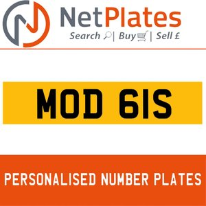 MOD 61S PERSONALISED PRIVATE CHERISHED DVLA NUMBER PLATE For Sale