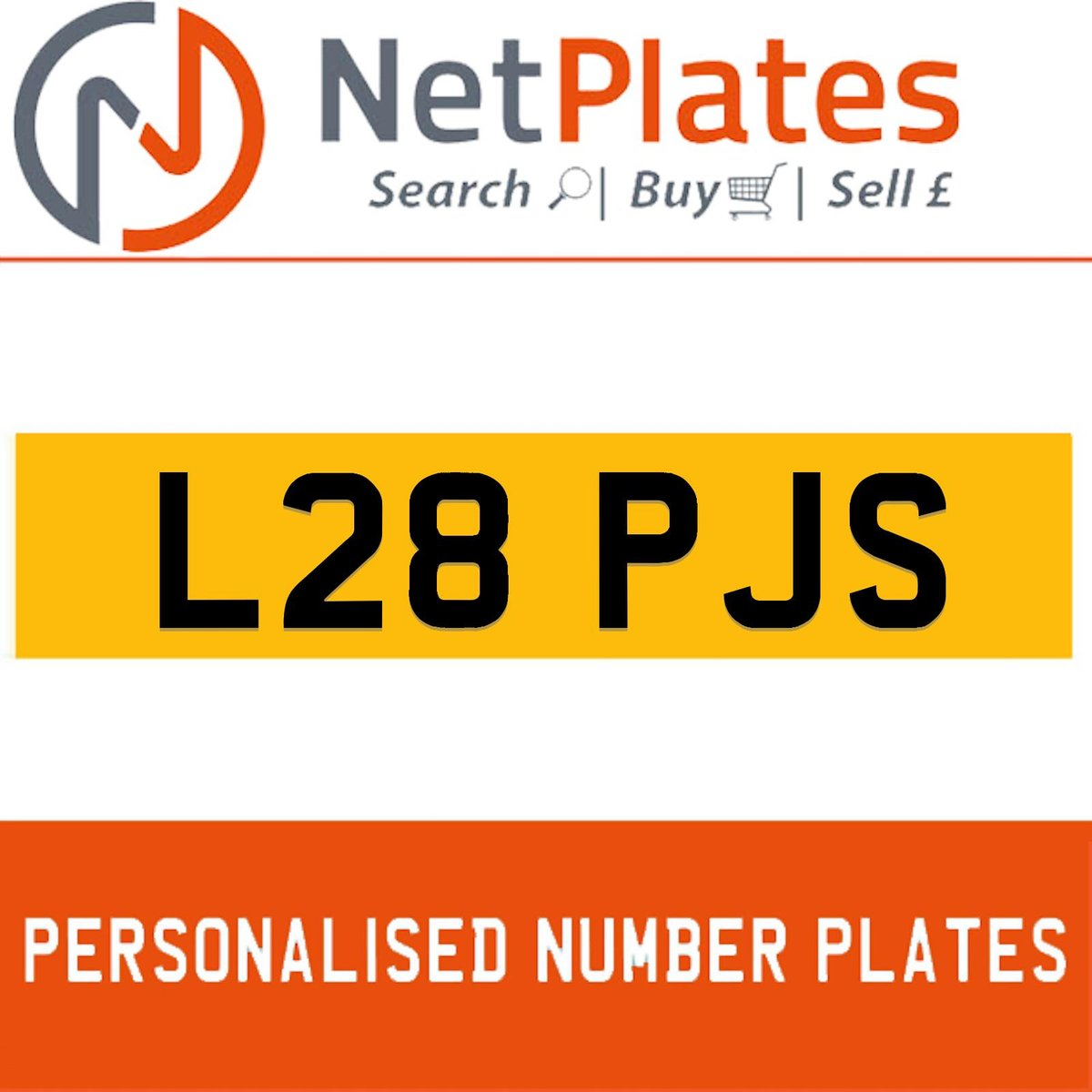 L28 PJS PERSONALISED PRIVATE CHERISHED DVLA NUMBER PLATE For Sale (picture 1 of 5)