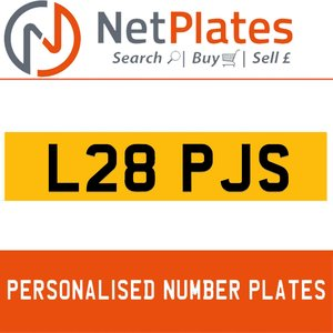 L28 PJS PERSONALISED PRIVATE CHERISHED DVLA NUMBER PLATE For Sale