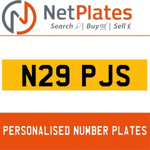 N29 PJS PERSONALISED PRIVATE CHERISHED DVLA NUMBER PLATE For Sale