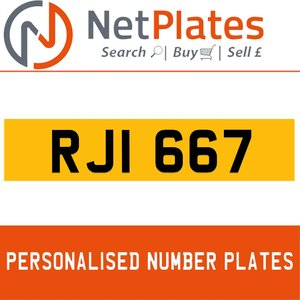 RJI 667 PERSONALISED PRIVATE CHERISHED DVLA NUMBER PLATE For Sale