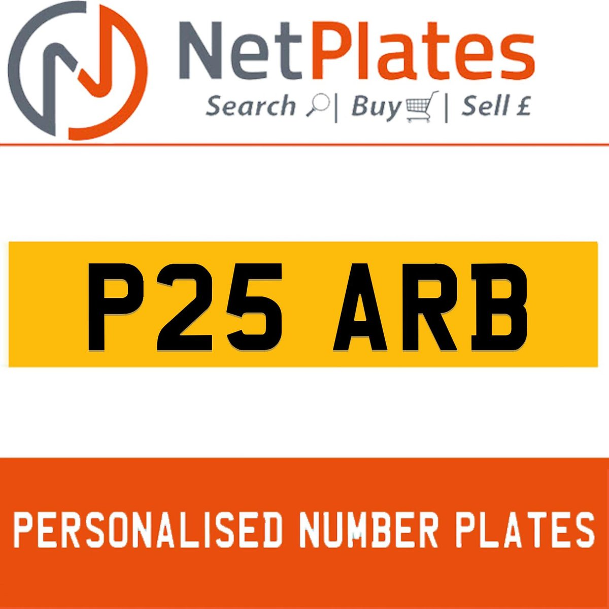 P25 ARB PERSONALISED PRIVATE CHERISHED DVLA NUMBER PLATE For Sale (picture 1 of 5)