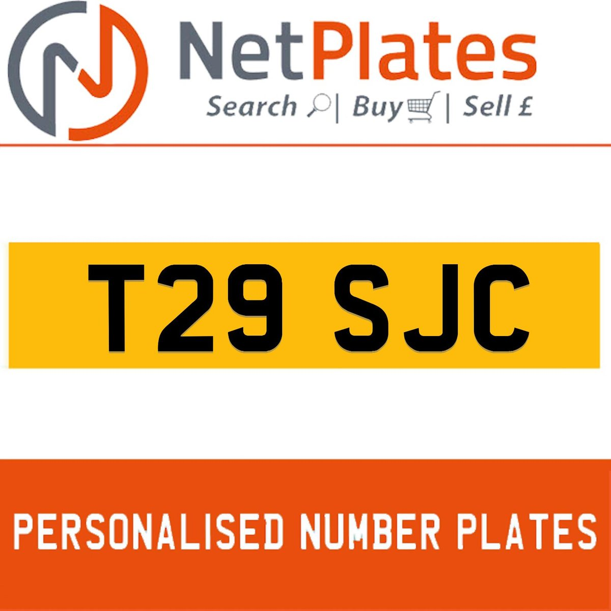 T29 SJC PERSONALISED PRIVATE CHERISHED DVLA NUMBER PLATE For Sale (picture 1 of 5)