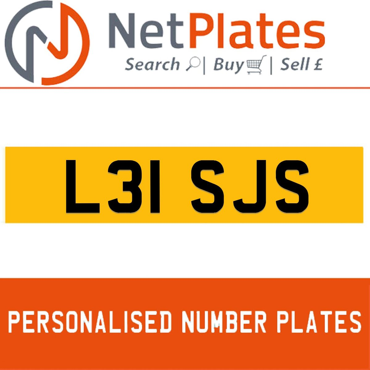 L31 SJS PERSONALISED PRIVATE CHERISHED DVLA NUMBER PLATE For Sale (picture 1 of 5)